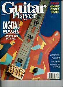GUITAR Player (Juni 89) Jimi Hendrix, Carlton  + record inside (plus- Flexi disc