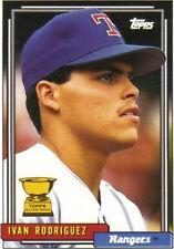 1992 Topps Ivan Rodriguez Texas Rangers #78 Baseball Card