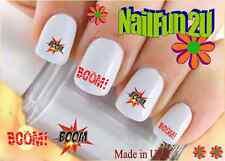 "RTG Set#517 IMAGE ""Boom"" WaterSlide Decals Nail Art Transfers Salon Nails"