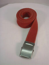 "New, Men's, Red Soft Cotton Web Belt 1.5"" X 54""  Made in the USA"