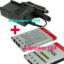 Battery + Charger For NP-20 NP20 Casio Rechargeable Li-ion Exilim EX-Z75 EX-Z77