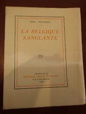 Verhaeren La Belgique sanglante Edition Originale grand papier N° 5/ 50 Voiron