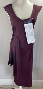 Burgandy - Wear it 5 Ways Dress - BNWT - Size S AUS 10-12