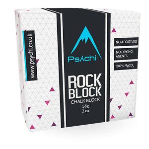 Psychi Chalk Block Climbing Crossfit Gymnastics Bouldering Gym Weightlifting 55g