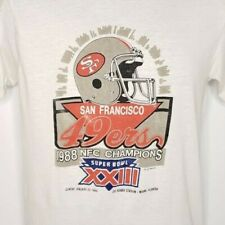 Super Bowl XXIII T Shirt Vintage 80s 1988 49ers Champions Made In USA Size Large