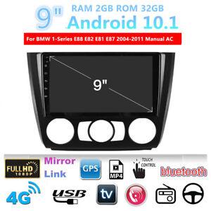For BMW 1 Series E88 E82 E81 E87 Manual AC Stereo Radio Head Unit 2+32GB GPS