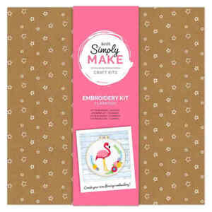 DOCRAFTS SIMPLY MAKE FLAMINGO EMBROIDERY KIT