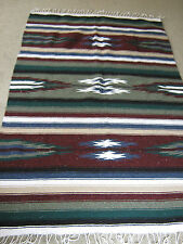 "Aztec Style Cotton Blend Tapestry Throw Blanket 77"" X 48"""