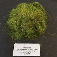 Serious-Play Summer Static Grass 6mm -Model Scenery Warhammer Railway Green base