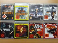 PS3 Killzone 2 3 Battlefield 3 Bad Company 2Black Ops Resident Evil 5 GoW 3 Red