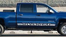 (2PK) Chevy Silverado Door Decals Vinyl Stickers 1500 Shadow Stripes Striping