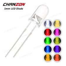 20x 5mm LED Superhell 20ma rund Ultrahell 30° kalt weiß CHANZON