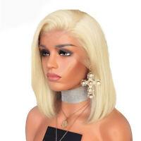 Blonde Ombre Human Hair Short Bob Wigs Peerless Virgin Hair Full Lace Front Wigs