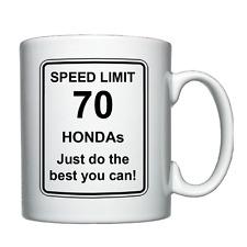 Honda - Speed Limit - Personalised Mug Christmas/Birthday/Joke/Funny