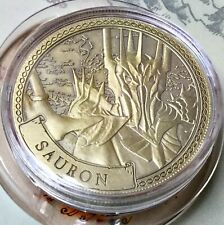 Sauron Lord Of The Rings Limited Edition 38mm Collectors Coin In Capsule