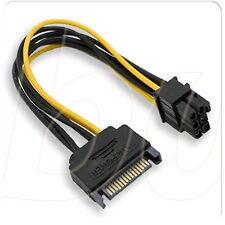 Cable de Alimentación SATA macho de 15-Pin a conector de 6-Pin Tarjeta gráfica