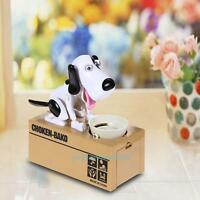 Kid Cartoon Stealing Coin Money Saving Box Dog Piggy Bank Storage Christmas Gift