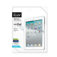 iLuv ICC1198 Glare Free Screen Protector for Apple iPad 2nd, 3rd & 4rd G. NEW