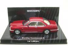 1 43 Minichamps Bentley continental R 1996 Redmetallic