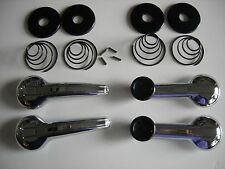 TRIUMPH TR250 TR6 GT6 INTERIOR DOOR HANDLES WINDER WINDERS CRANKS HANDLE KIT SET