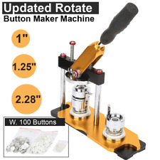 """1""""/1.25""""/2.25&# 034; Updated Rotate Badge Button Maker Machine Manual+100 Buttons Diy"""
