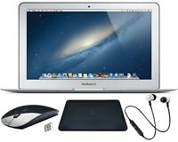 BUNDLE! Apple MacBook Air Silver | 128GB,4GB RAM | Intel Core i5 | 11.6in,1.6GHz