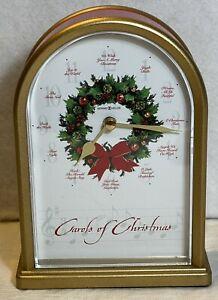 Vintage Howard Miller Carols of Christmas Musical Chime Mantle Clock Works Well