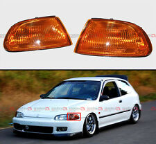 1992-95 HONDA CIVIC 2/3 DOOR EG JDM VISION TURN SIGNAL CORNER LAMP LIGHTS AMBER