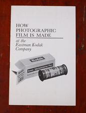 KODAK HOW PHOTOGRAPHIC FILM IS MADE, BROCHURE/cks/216073