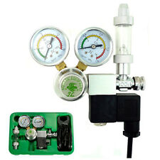 Co2 Magnetic Regulator Two Gauges Solenoid Meter Bubble Counter Planted Aquarium
