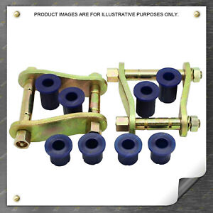 4X4FORCE Extended Shackles + Bushings kit for Holden Colorado RG Premium Quality