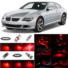 10pcs Red LED Interior Light Package Fit For 2005-2010 BMW 6 Series M6 E63 E64
