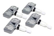 4 TPMS Tire Pressure Sensors Toyota Tacoma 315mhz Silver Aluminum Valve Stems