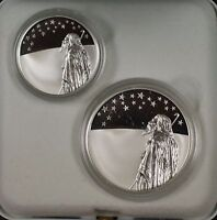1999 Israel New Sheqalim Biblical Art 2 Coin Silver Proof & UNC Set w/ Box & COA