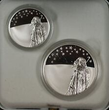 1999 Israel New Sheqalim Biblical Art 2 Coin Silver Proof & UNC Set w/ Box & COA