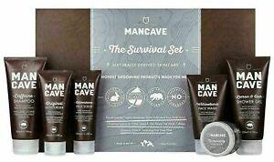 ManCave Natural Shampoo, Face Scrub, Moisturiser, Face Wash, Shower Gel, Hair P.