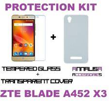 KIT COVER + PELLICOLA VETRO TEMPERATO ZTE BLADE A452 X3 CASE + TEMPERED GLASS