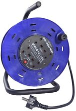 25m Extension Cable Reel 240V Schuko Euro Plug to 4 Gang Extension Lead Holiday