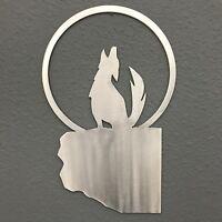 Howling Coyote Metal Wall Art Skilwerx 12 x 8 Southwestern