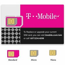 New T-Mobile 4G 5G Sim Card Unactivated, T-Mobile Oem Nano Sim Card .3 in 1