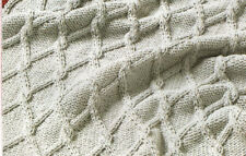 "Baby Blanket Pram Cover Diamond Cable Knitting Pattern in Aran 20"" x 26"""