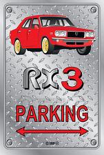 Parking Sign Metal MazdA RX3 4-door-14 - Checkerplate Look