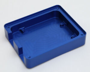 Custom Made CNC Machined Aluminium Blue Anodised Arduino Uno Compatible Case