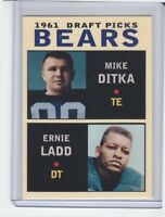 Mike Ditka / Ernie Ladd '61 Chicago Bears Draft Picks #4 rookie stars