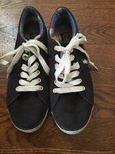 Boys Polo Ralph Lauren Navy Blue Fashion Sneakers Casual Shoes Size 4.5