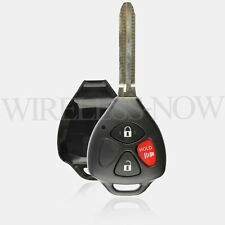 Car Key Fob Shell Case Pad Uncut 3B For 2009 2010 2011 2012 2013 Toyota Matrix