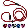 Rope Slip Leash Strong Training Dog Lead 6 ft Braided Pet Leashes for S M L Dogs
