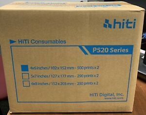 HiTi P520 / P525 4x6 Print Kit, Two Rolls Per Box, 500 Prints Per Roll NEW