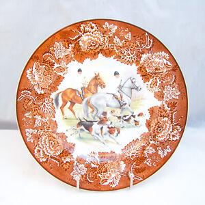 Wood & Sons Alpine White Ironstone FOX HUNT Scene Plate
