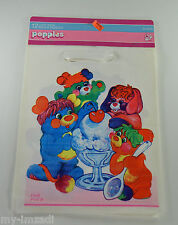 Vintage 1986 Popples 12 Birthday Party Loot Bags Pc Puzzle Pancake Putter Sundae